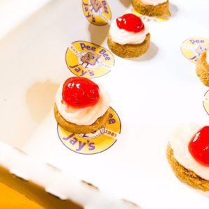 PBJ Strawberry Lemonade Cheesecake Bites